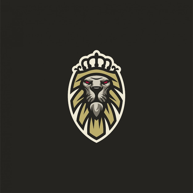 Logo del re leone Vettore Premium