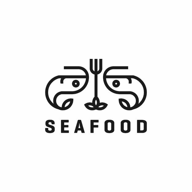 Logo del ristorante di pesce Vettore Premium