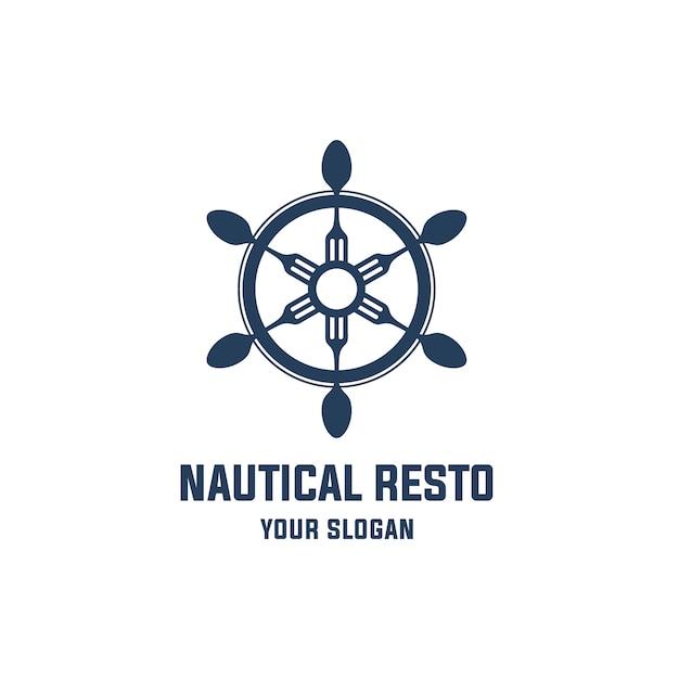 Logo del ristorante nautico Vettore Premium
