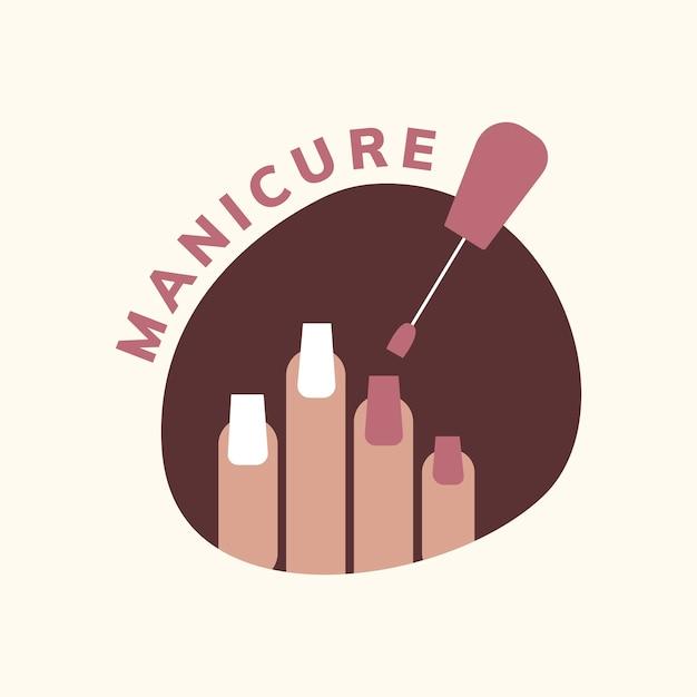 Logo del salone di manicure e pedicure Vettore gratuito