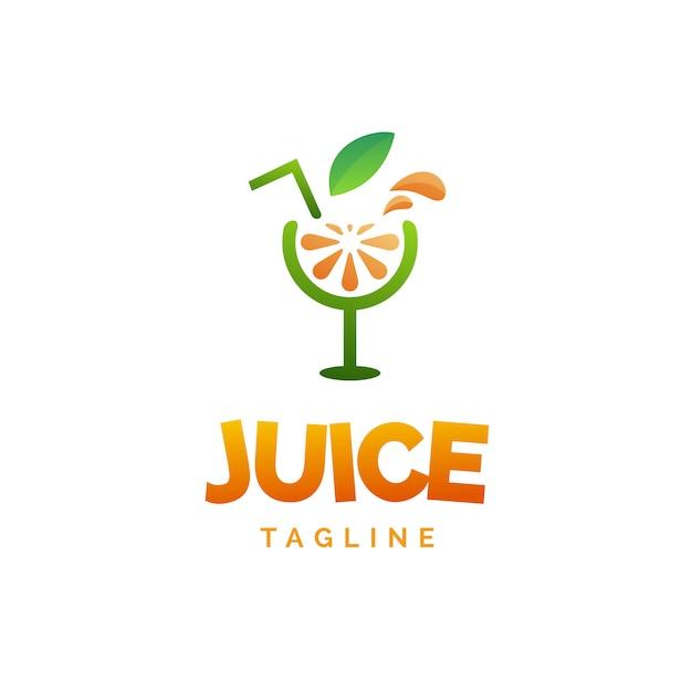 Logo del succo di limone Vettore Premium