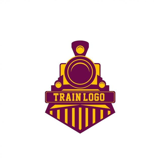 Logo del treno Vettore Premium