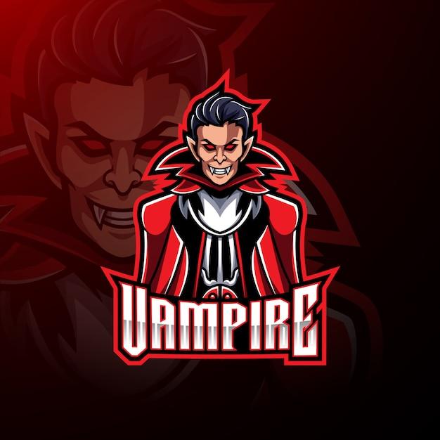 Logo del vampiro Vettore Premium