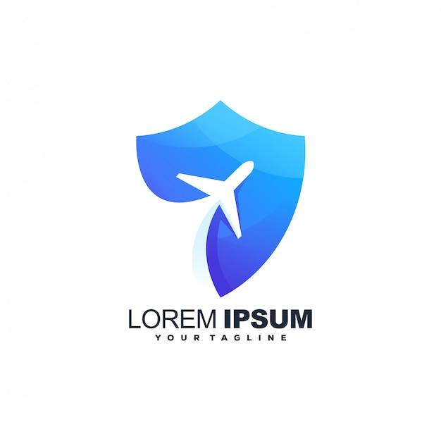 Logo dell'aereo Vettore Premium