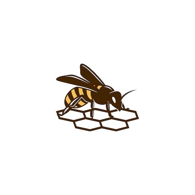 Logo dell'ape del miele Vettore Premium