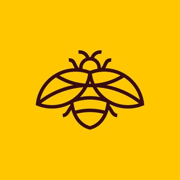 Logo dell'ape minimalista Vettore Premium