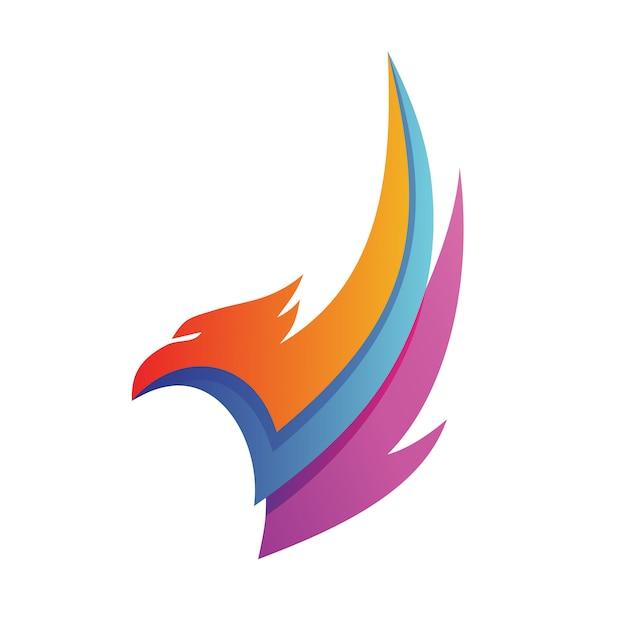 Logo dell'aquila Vettore Premium