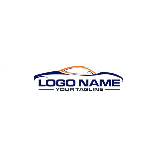 Logo dell'automobile sportiva Vettore Premium