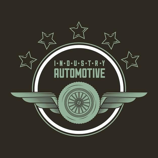 Logo dell'industria automobilistica Vettore gratuito