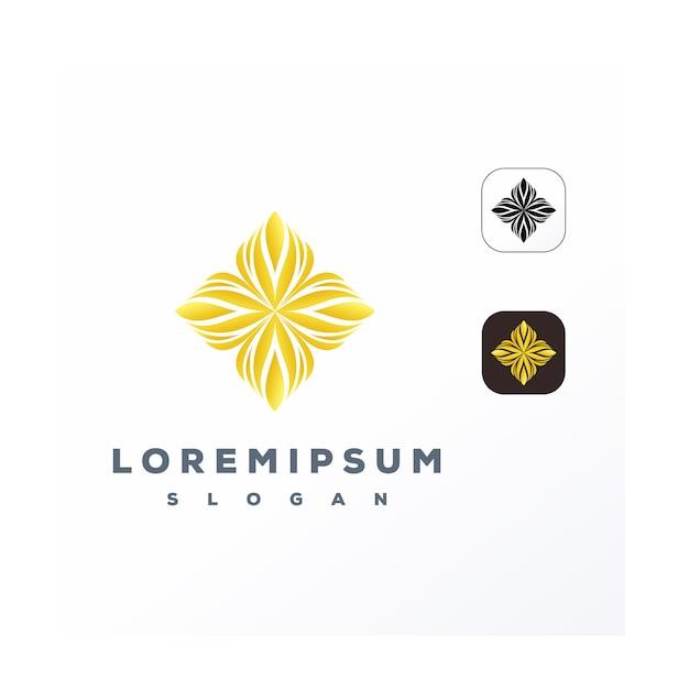 Logo dell'ornamento d'oro Vettore Premium
