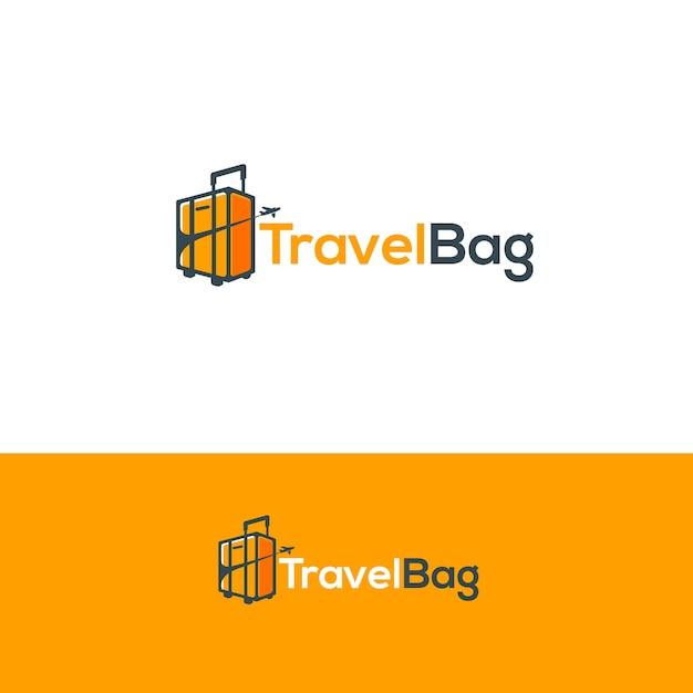 Logo della borsa da viaggio Vettore Premium