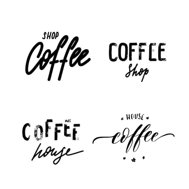 Logo della caffetteria Vettore Premium