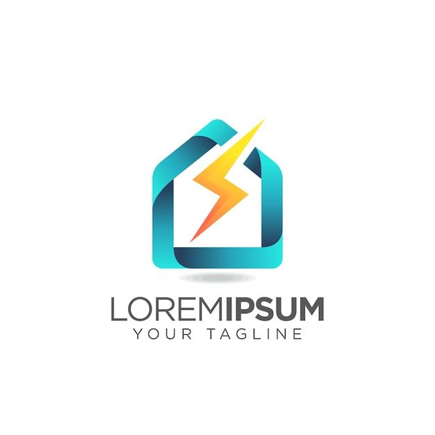 Logo della casa elettrica Vettore Premium