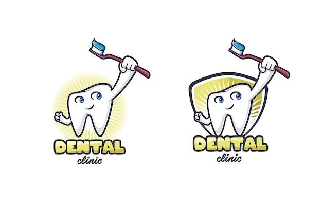 Logo della clinica dentale Vettore Premium