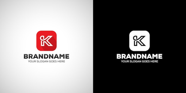 Logo della lettera k. Vettore Premium