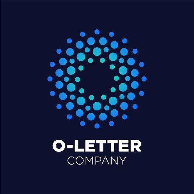 Logo della lettera o Vettore Premium