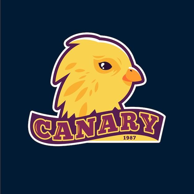 Logo della mascotte con l'uccello Vettore gratuito