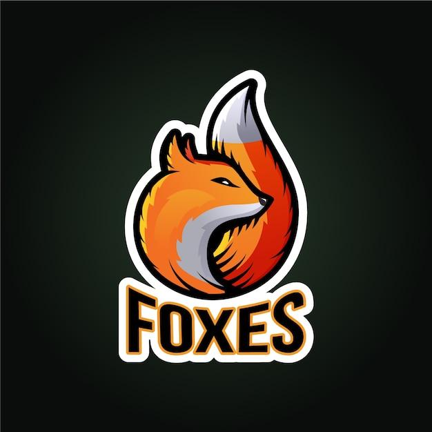 Logo della mascotte fox Vettore gratuito