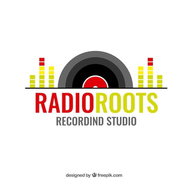 Logo della musica moderna Vettore gratuito