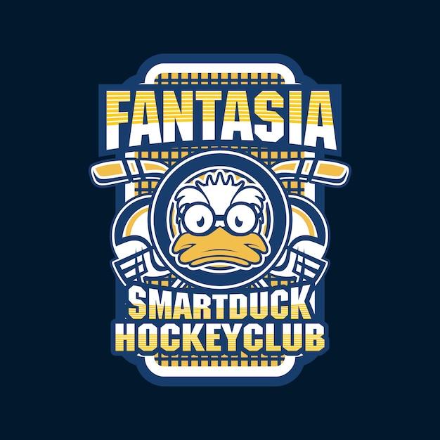 Logo della squadra di hockey Vettore Premium