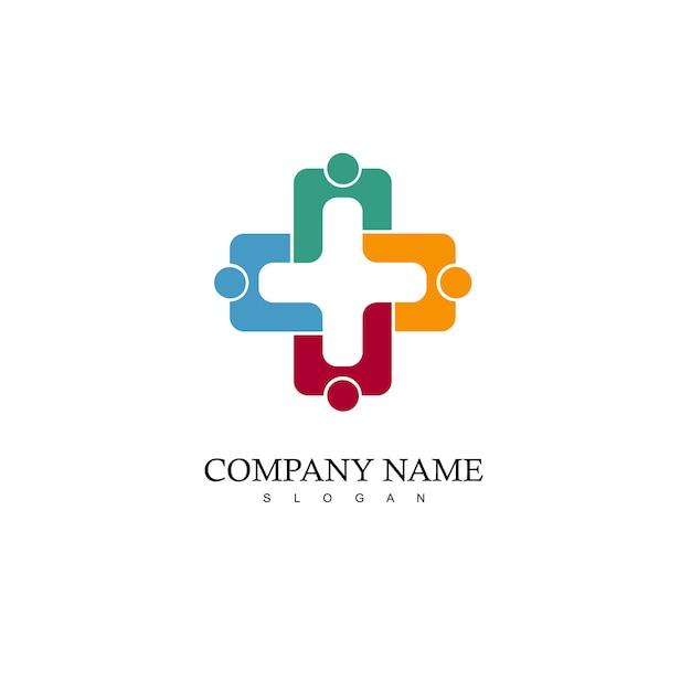 Logo della squadra, icona della gente Vettore Premium