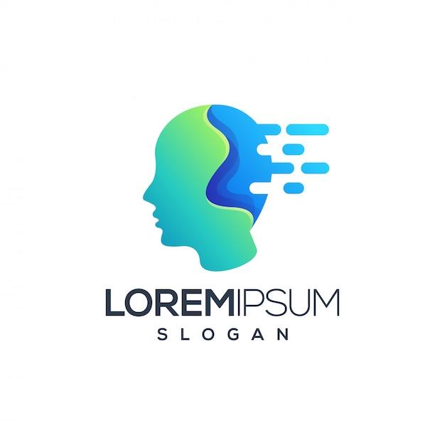 Logo della tecnologia Vettore Premium