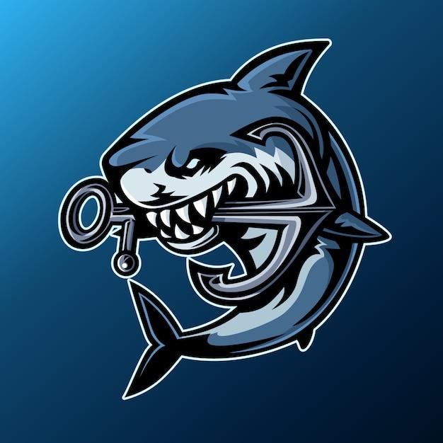 Logo dello squalo Vettore Premium