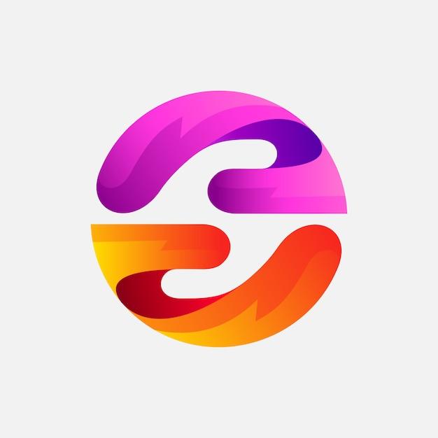 Logo design a mano per regalo o beneficenza Vettore Premium