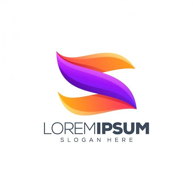 Logo design alfabeto Vettore Premium