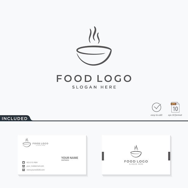 Logo design alimentare Vettore Premium