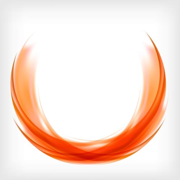 Logo design astratto in arancione Vettore gratuito