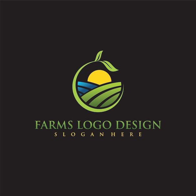 logo design di aziende agricole scaricare vettori premium
