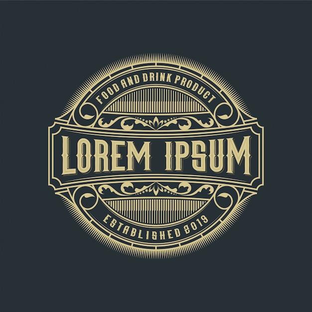 Logo design di cibi e bevande per prodotti e ristoranti Vettore Premium