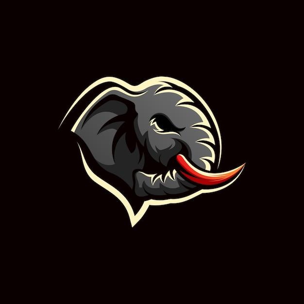 Logo design elefante Vettore Premium