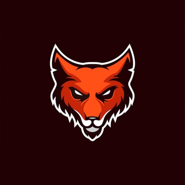 Logo design fox Vettore Premium