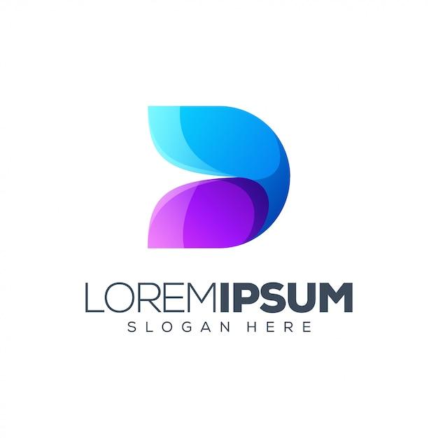 Logo design lettera d. Vettore Premium