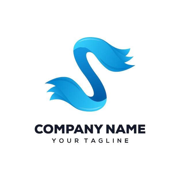Logo design lettera s Vettore Premium