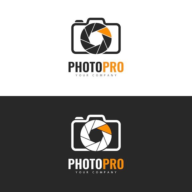 Logo design photo studio. Vettore Premium