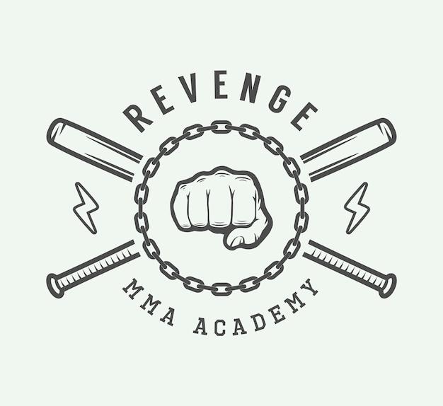 Logo di arti marziali Vettore Premium