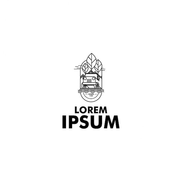 Logo di avventura artistica Vettore Premium