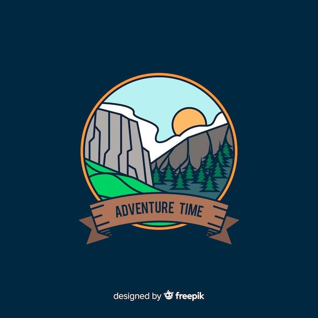 Logo di avventura Vettore gratuito