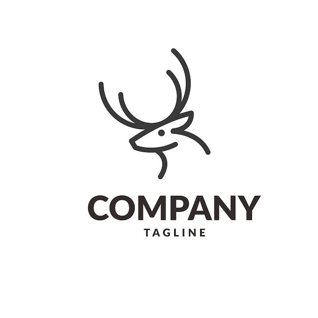 Logo di cervo Vettore Premium