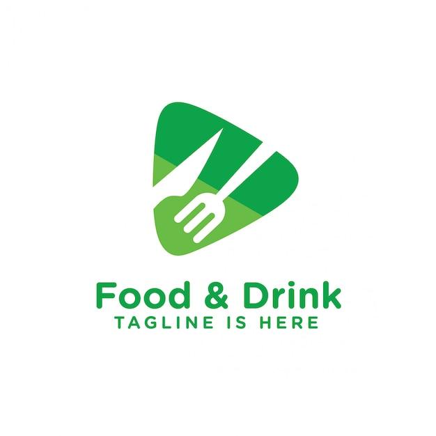 Logo di cibi e bevande Vettore Premium