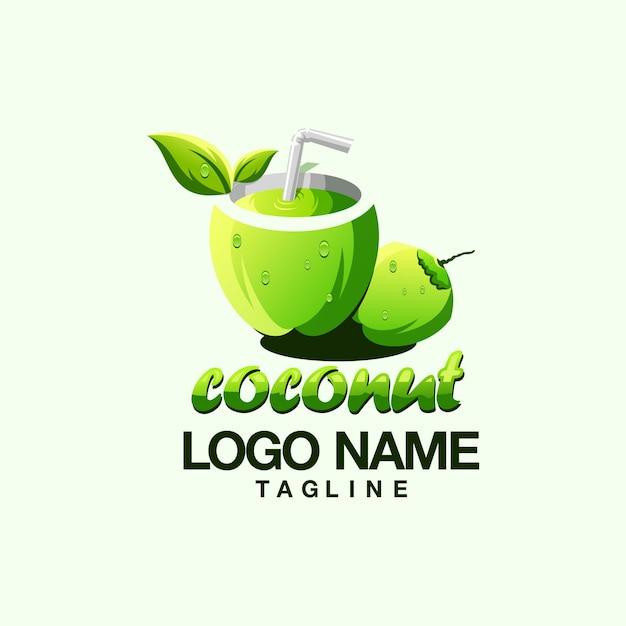 Logo di cocco Vettore Premium