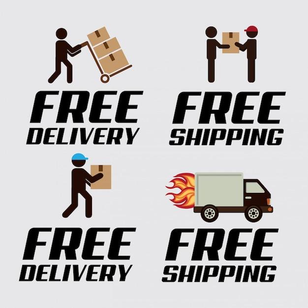 Logo di consegna Vettore gratuito