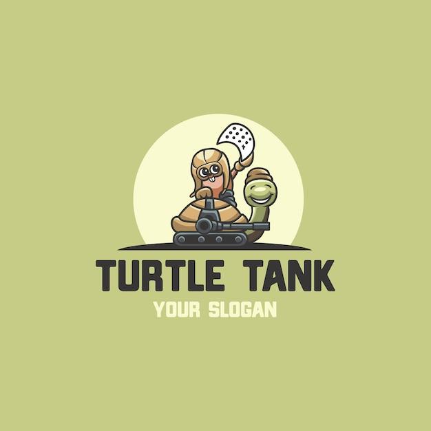 Logo di esche per tartarughe Vettore Premium