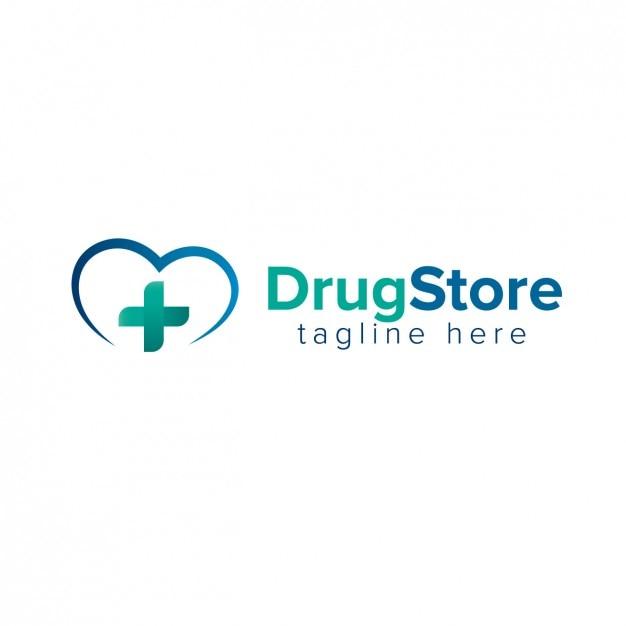 Logo di farmacia Vettore gratuito