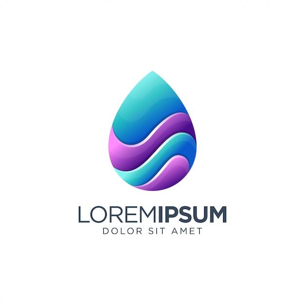 Logo di goccia d'acqua Vettore Premium