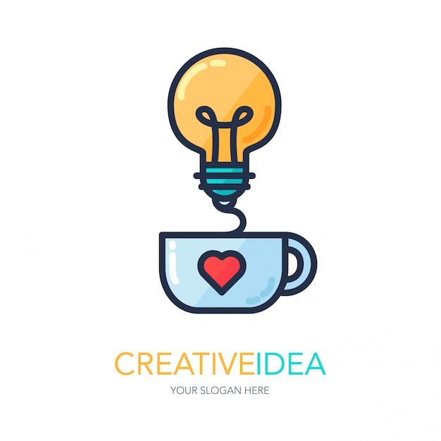 Logo di idea di successo creativo Vettore Premium