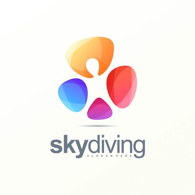 Logo di immersioni subacquee Vettore Premium